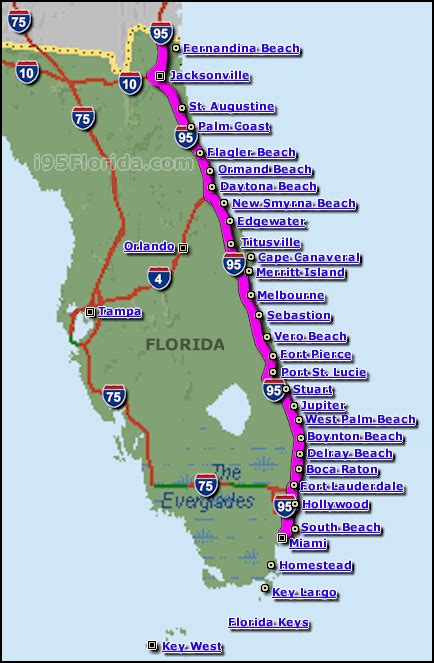 east coast beaches maps  florida  list  beaches