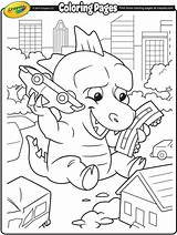Coloring Pages Giant Lizard Crayola Monster Colouring Sheets Lizards Books Dora Printable Dragon Sawfish Worksheets Breathing Fire Adult Needs Dinosaurs sketch template