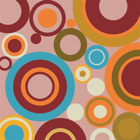 Free Stock Vector Abstract Composition With Circles The