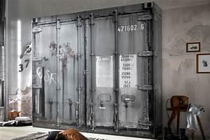 Kleiderschrank Jugendzimmer Jungen : moderner kleiderschrank rustikal 240cm in container optik grau industrial riess ~ Indierocktalk.com Haus und Dekorationen