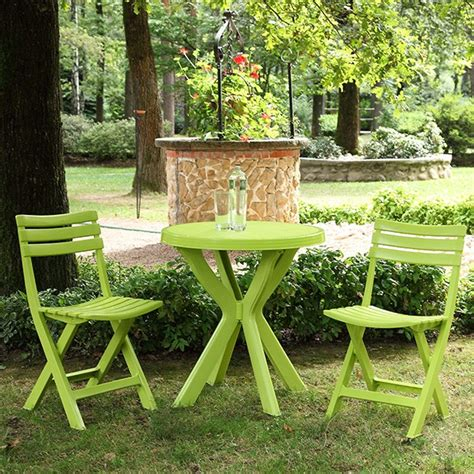 table et chaise balcon set balcon table ronde 2 chaises pliantes vert anis