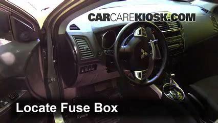 interior fuse box location   mitsubishi outlander sport  mitsubishi outlander
