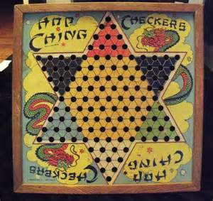 Vintage Chinese Checkers Board Game