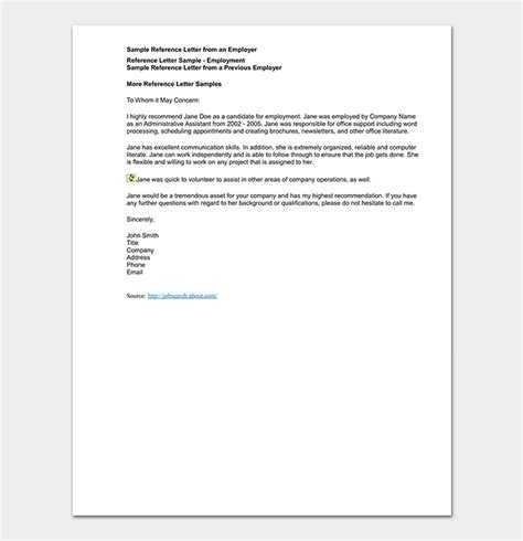 credit reference letter format sample letters word