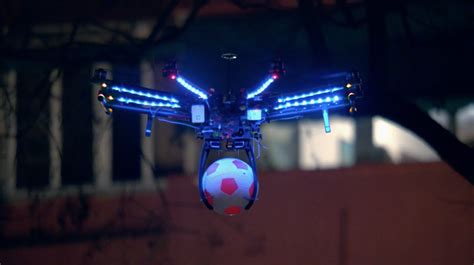 drone lights at night pepsi max drone football the inspiration room