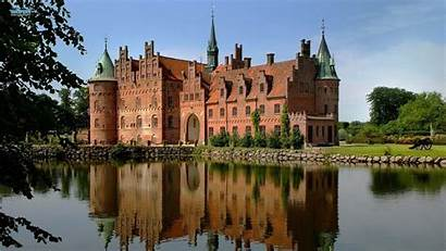 Egeskov Denmark Castle Landscape Danimarca Chateau Castello
