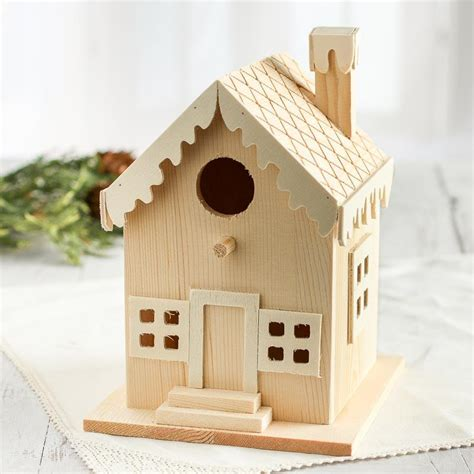 unfinished wood gingerbread birdhouse wood miniatures