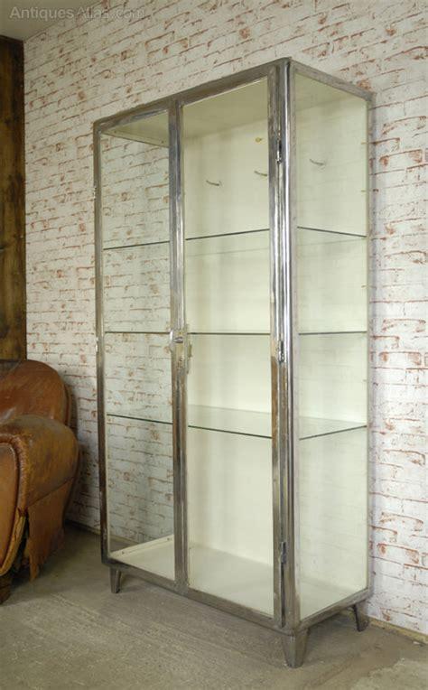 Steel Display Cabinet by Antiques Atlas Polished Steel C1930 S Display