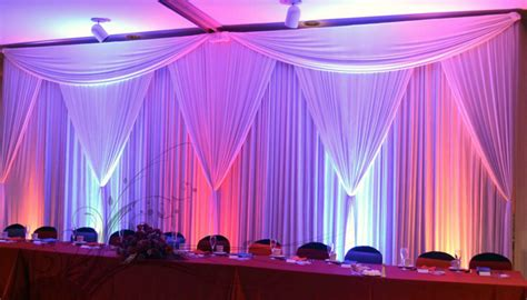 drape lights weddings pipe and drape portland wedding lights