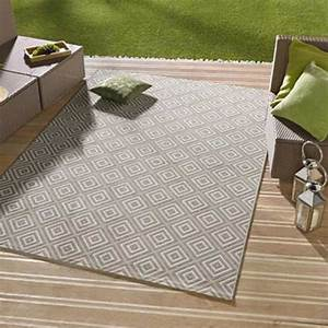 Teppich Für Balkon : outdoor teppich 80x150 karo braun f r terrasse balkon garten ~ Frokenaadalensverden.com Haus und Dekorationen