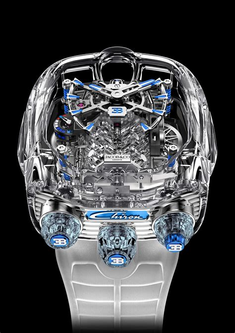 The intricate timekeeping can be viewed thanks to a sapphire crystal viewing aperture on the side, where the bugatti logo is also engraved. Luxury like no other: New Bugatti Chiron Tourbillon Timepiece Limited Editions — Bugatti Newsroom