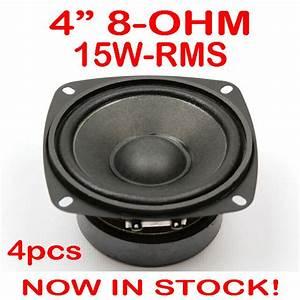 4x 4 U0026quot  15wrms Pa Dj Speaker Subwoofer Woofer Sub Driver 4