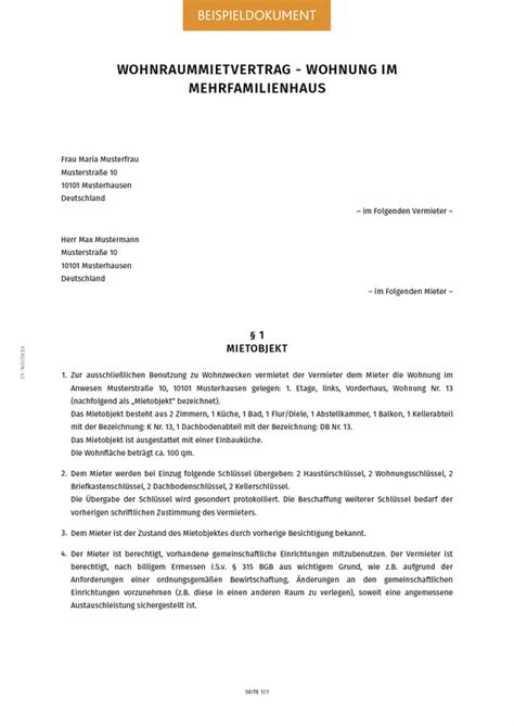 mietvertrag wohnung kündigen mietvertrag f 252 r eine wohnung erstellen smartlaw