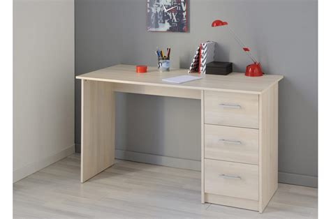 bureau de chambre pas cher bureau de chambre 3 tiroirs pas cher novomeuble
