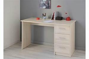 Bureau De Chambre Pas Cher : bureau de chambre 3 tiroirs pas cher pour bureau ~ Teatrodelosmanantiales.com Idées de Décoration