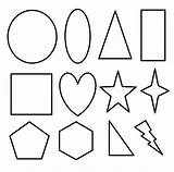 Coloring Shapes Pages Printable Geometric 2d Basic Shape Toddlers Print Clipart Different Cliparts Templates Circle Revolutionary War Cut Preschool Activity sketch template