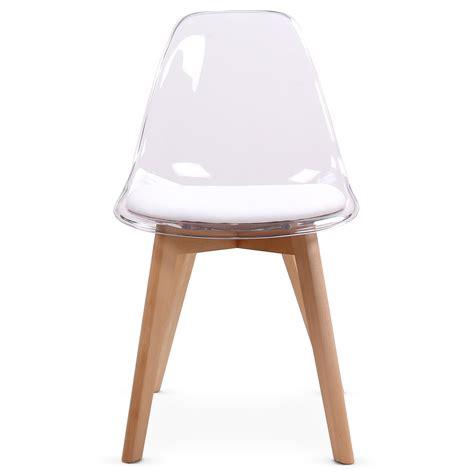design chaise chaise design blanche plexi et bois chaise design
