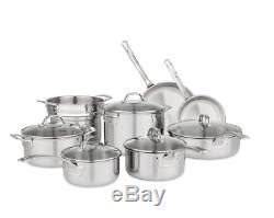 brand  viking tri ply  piece stainless steel cookware set