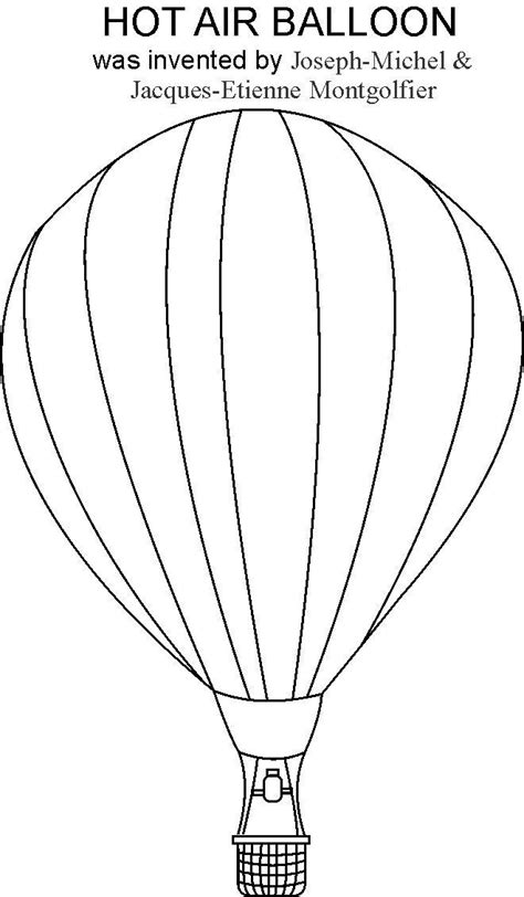 hot air balloon coloring pages    print