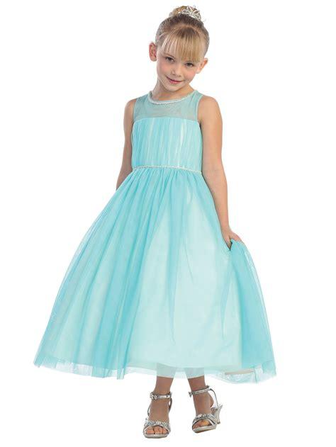 Light Blue Flower Girl Dresses  Sanmaz Kones