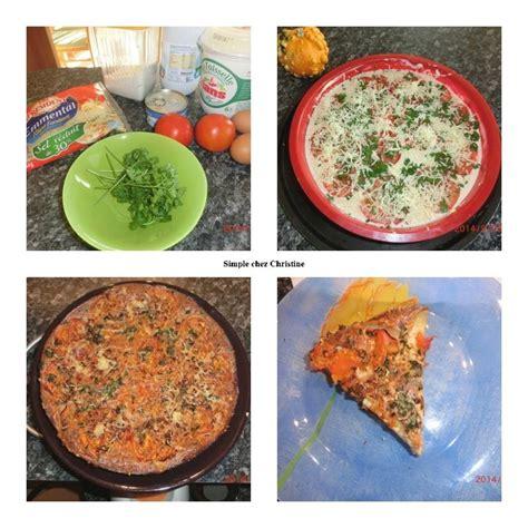 tarte sans p 226 te au thon et tomates simple chez christine