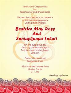 indian wedding invitation wording samples wordings and With samples of wedding invitation messages