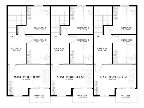 Townhouse Floor Plan Designs 3-story Townhouse Floor Plans