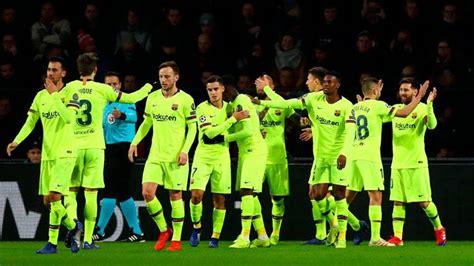Fc Barcelona Squad Vs Psv