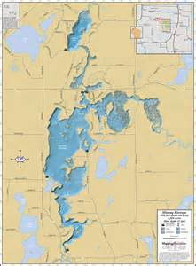 Minong Flowage Lake Map