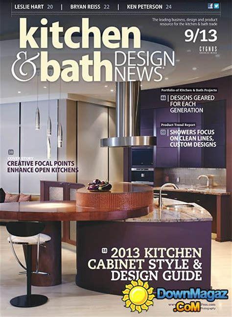 kitchen design news kitchen bath design news september 2013 187 pdf 1285