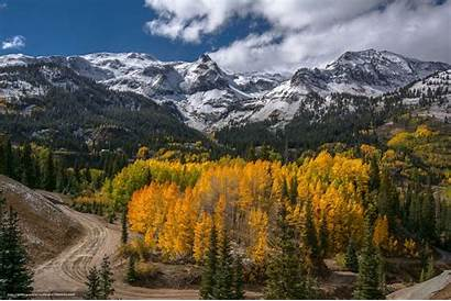 Colorado Mountain Mountains Autumn Scenery Road Wallpapers