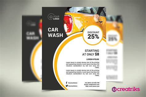 Here you can explore hq car wash flyer transparent illustrations, icons and clipart with filter setting like size, type, color etc. Car Wash Flyer | Creative Photoshop Templates ~ Creative ...