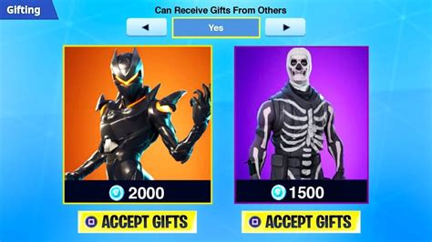 send gifts  fortnite   gift skins quadmft