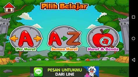 belajar alfabet menggunakan smartphone  aplikasi