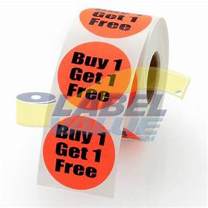 Buy one get one free label stickers 15quot free shipping for Buy printed labels online