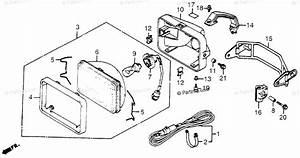 Honda Atv 1984 Oem Parts Diagram For Headlight