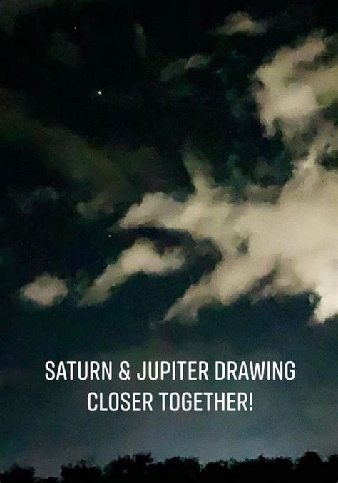 Photos of Jupiter and Saturn, headed for a December close ...