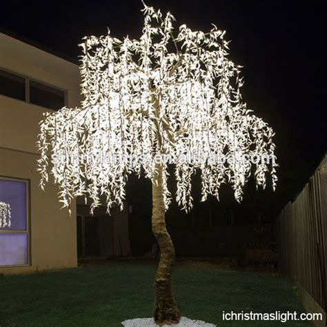 artificial white led light  willow trees ichristmaslight