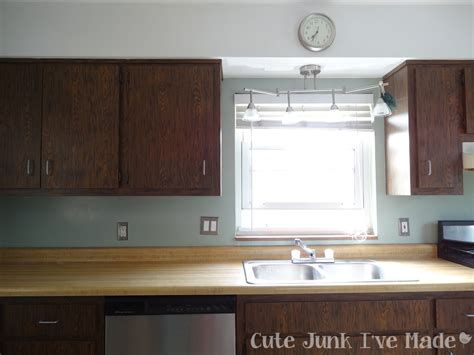 Cute Junk I've Made How To Paint Laminate Cabinets Part