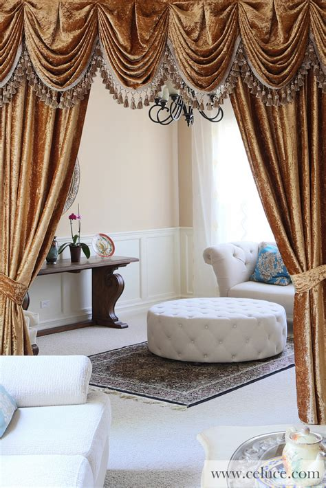curtains valances and swags gold velvet pleated austrian style swag valance draperies