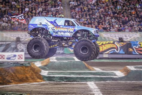monster truck names from monster jam hooked puts his name into the chase monster jam