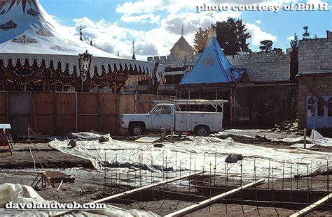 davelandblog quot new quot fantasyland construction at disneyland 1983
