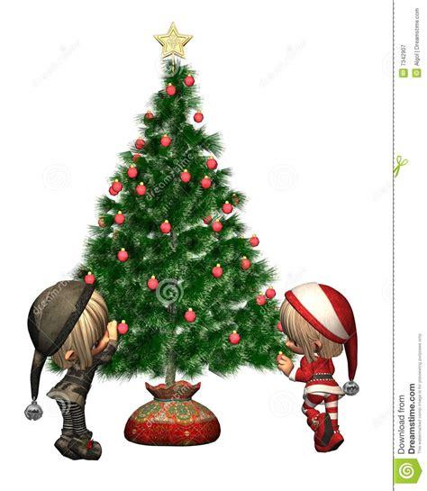 Decorate The Tree Stock Illustration