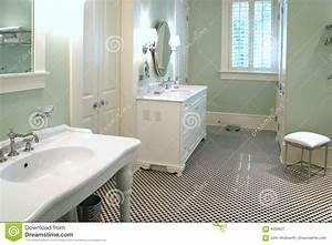 Salle De Bain Noire Et Blanche : salle de bains noire et blanche luxueuse photographie ~ Melissatoandfro.com Idées de Décoration