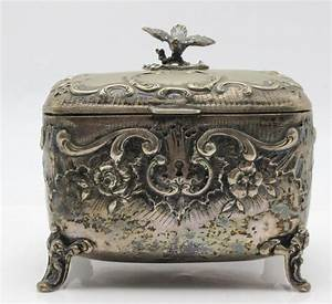 Antique Austrian Silver Footed Sugar Box