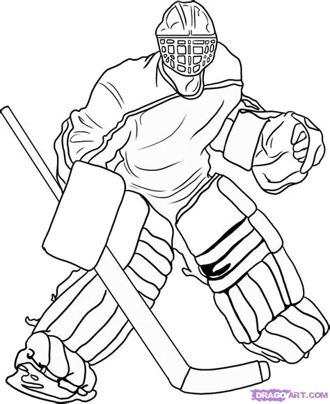hockey coloring pages birthday printable