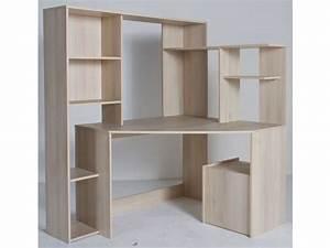 Bureau D Angle But : bureau d 39 angle groove coloris acacia vente de bureau conforama ~ Teatrodelosmanantiales.com Idées de Décoration