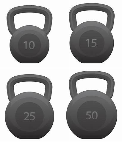 Vector Illustration Kettlebells Isolated Fitness Kettlebell Gym