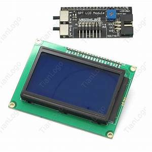 12864 128x64 Lcd Spi Serial Graphic Lcd Display Module For