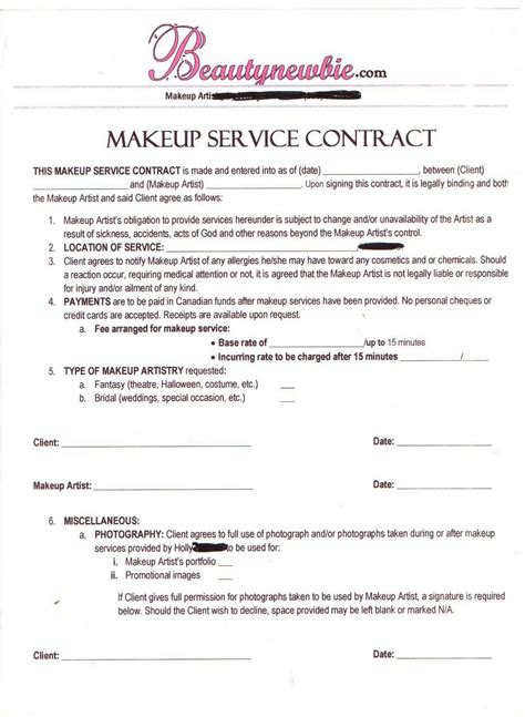 contract makeup artist tips makeup artist business